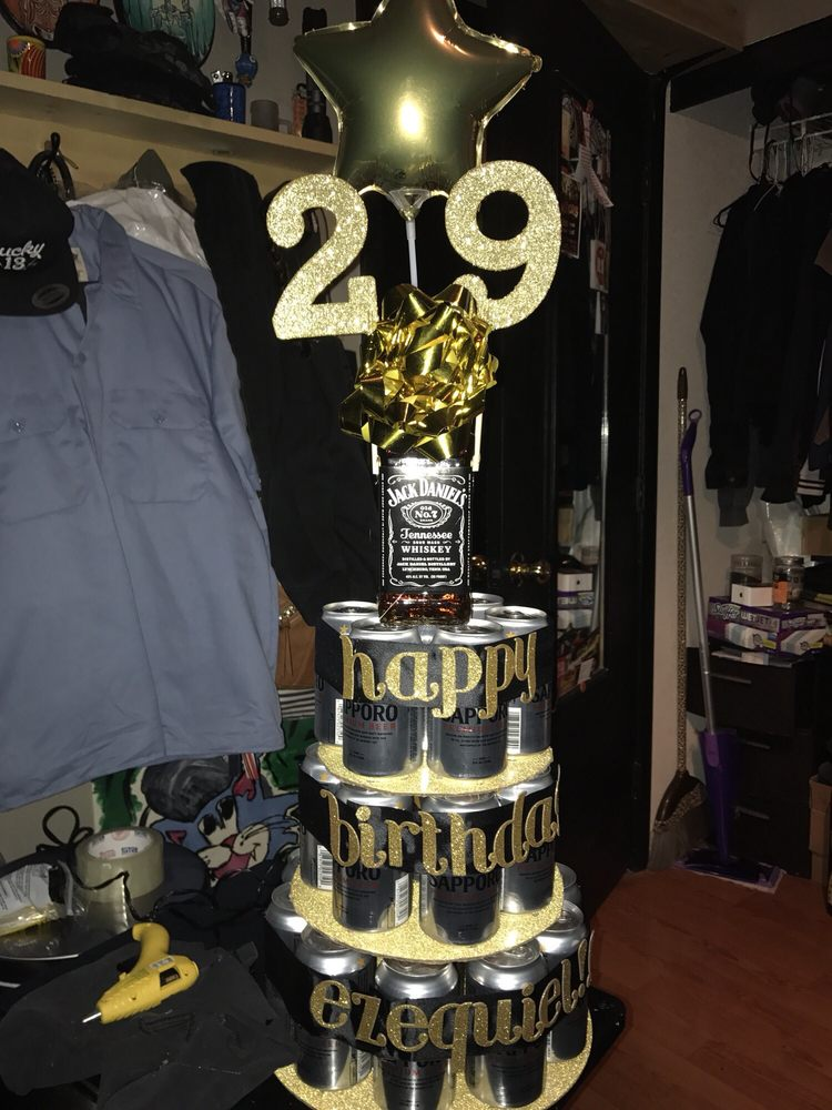 My Mans 29th Birthday Cake Everything But The Beer Jack Daniels