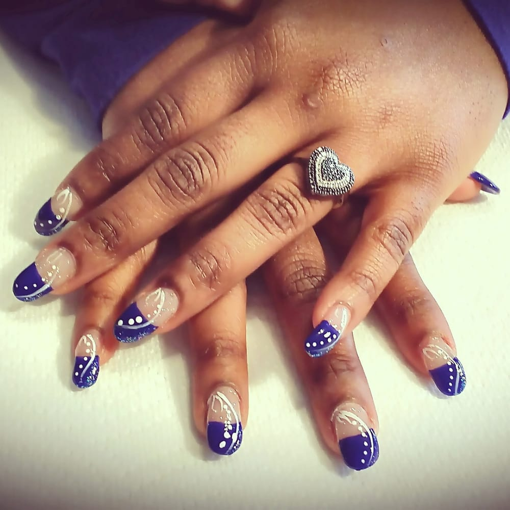 Dallas Cowboys inspired gel nails Courtesy of Pedicures Remembered ...