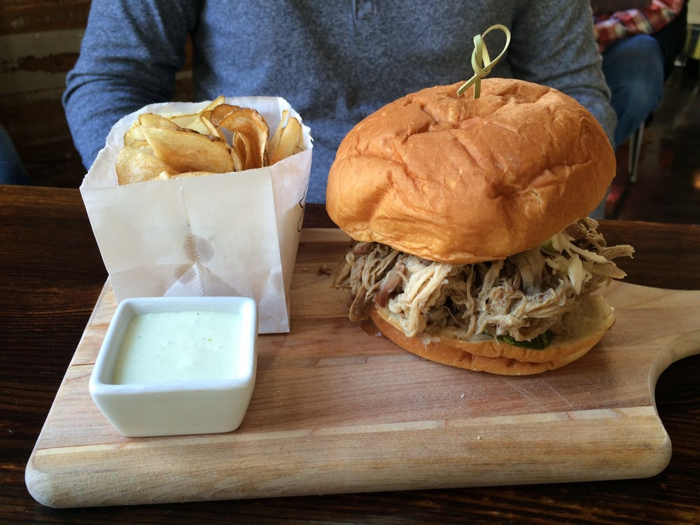 Pulled Pork Sandwich With Homemade Chips Yelp