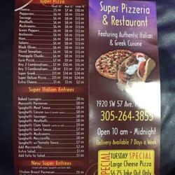 Super Pizzeria Restaurant Miami Fl