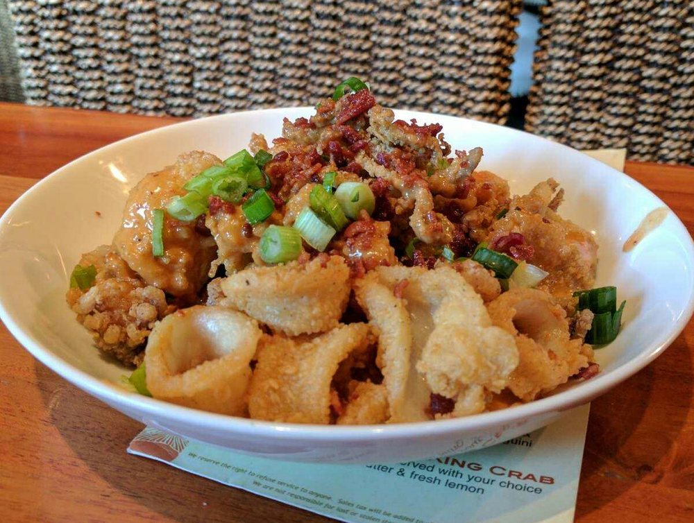 Not your ordinary calamari chipotle style this is a must for Fish bar manhattan beach menu