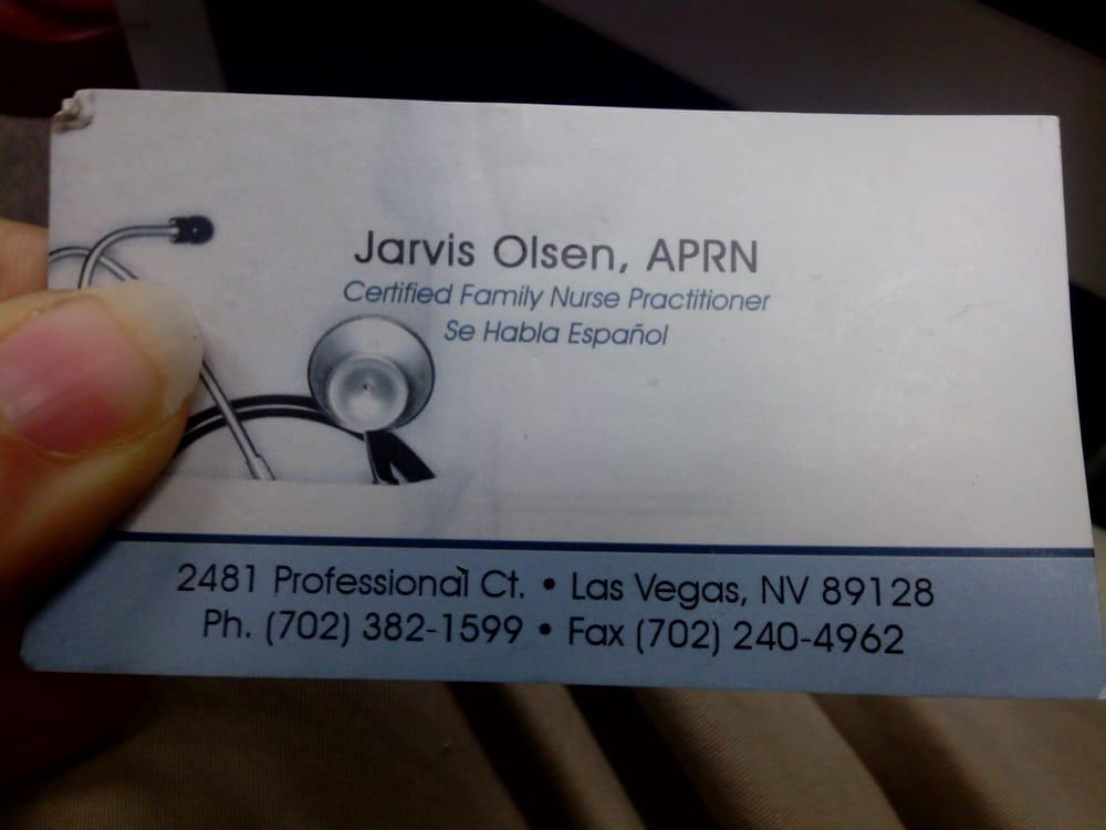 Jarvis Olsen, ARPN - Family Practice - 2481 Professional Ct, Las ...