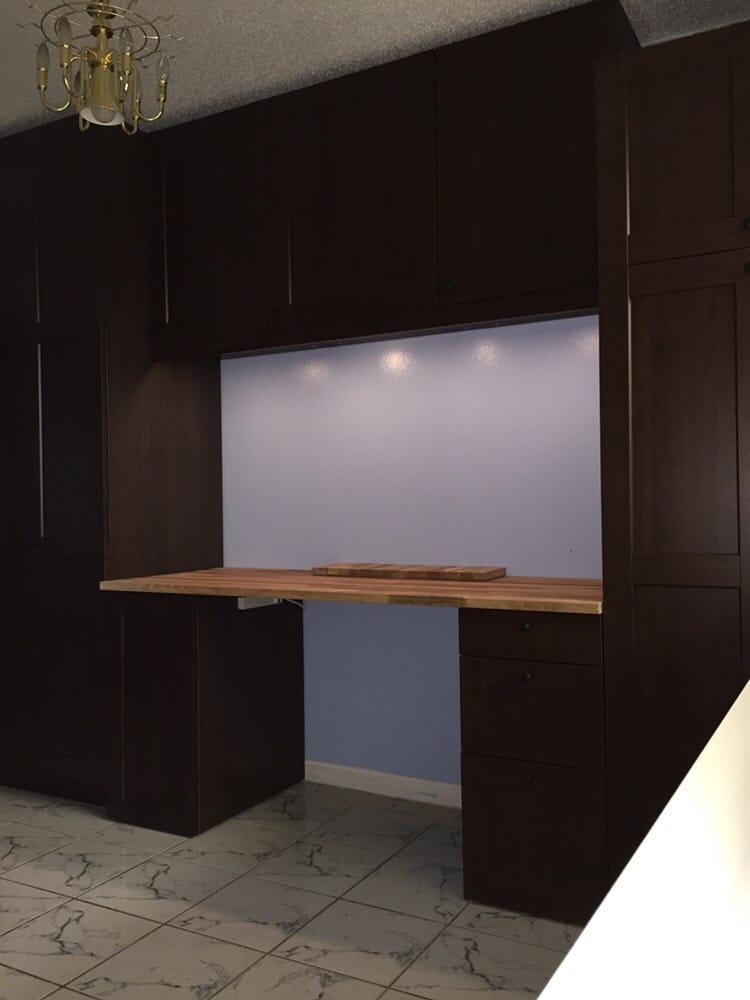 New Sektion Cabinets Make A Beautiful Desk Amp Storage Area