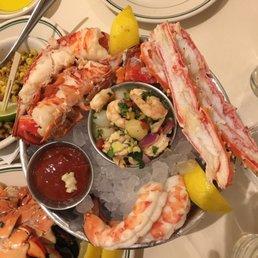 Alaskan king crab, lobster tail, jumbo shrimp cocktail ...