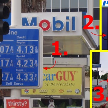 Mobil Gas Station Gas Stations 449 W Manchester Ave Playa Del