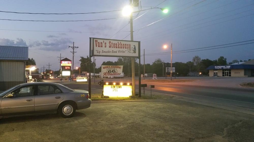 Van's Steak House: 2447 Military Ave, Baxter Springs, KS