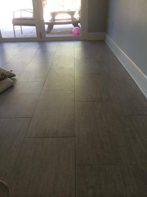 12 Quot X 24 Quot Porcelain Tile With 1 16 Quot Grout Lines On 30