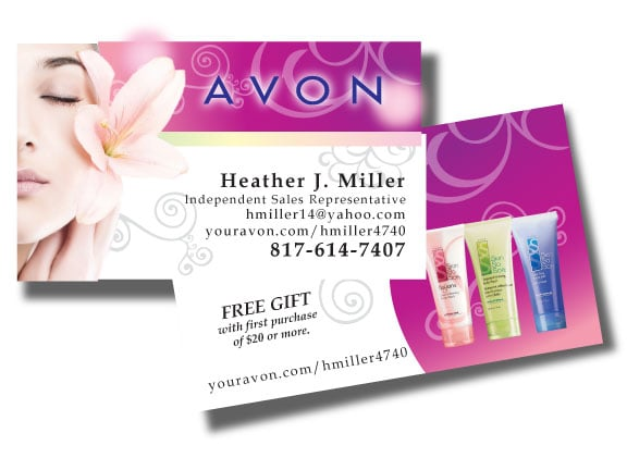 photo of bxb group inc haslet tx united states avon - Avon Business Cards