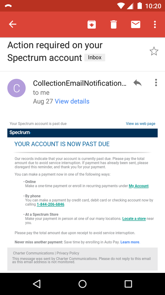 Full payment processed on 8/26/18, but I received this collections
