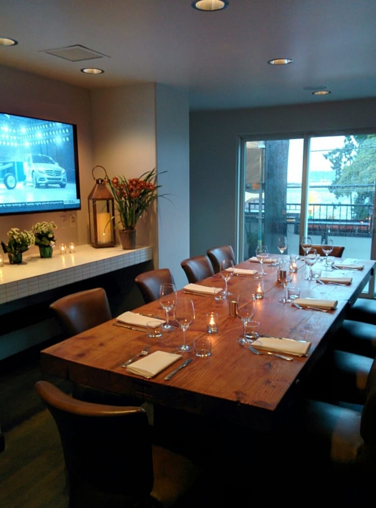 Park Seattle WA United States Private Dining Room With T V .