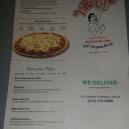 Villa Pizza Buffet Mattoon Il