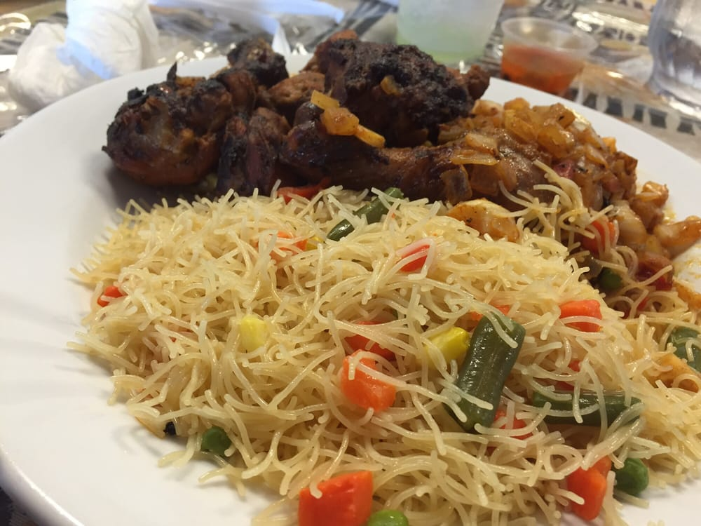 Dibi chicken w vermicelli yelp for African cuisine chicago