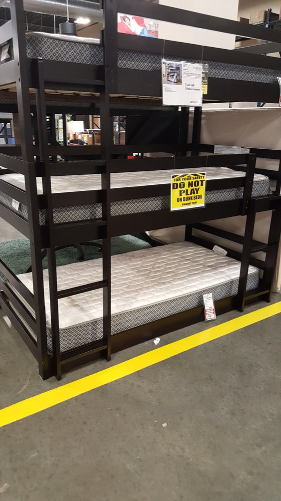 Three set bunk beds pretty awesome if you have three kids for All american furniture warehouse