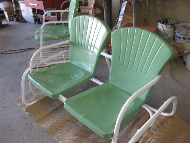Patio Furniture Powdercoated White And Ral 6021 Green Yelp