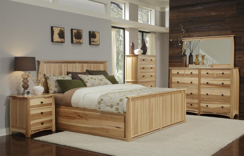 SOLID HICKORY ADAMSTOWN BEDROOM COLLECTION-ON DISPLAY IN