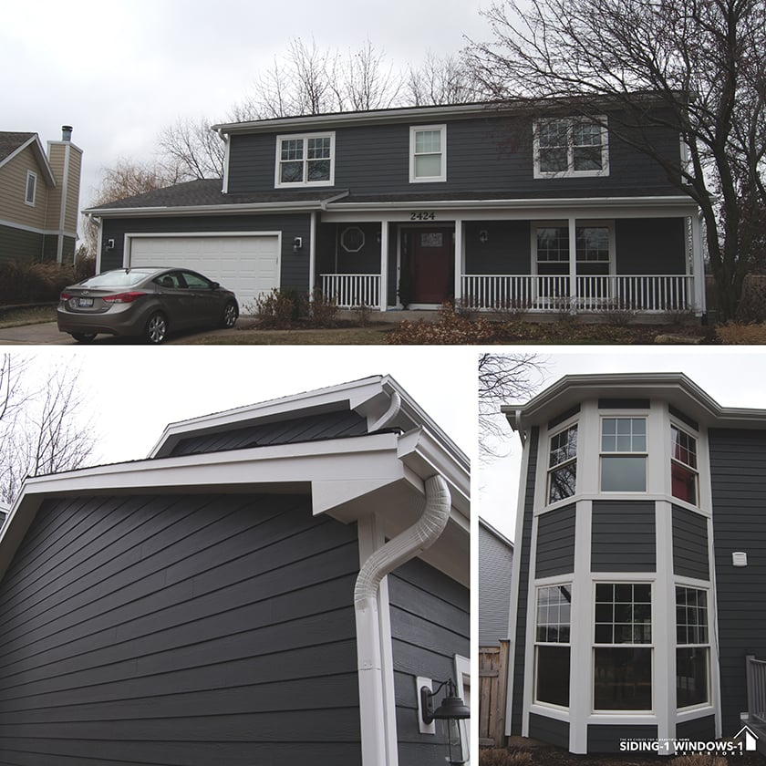 James Hardie Siding And Soffit Fascia Marvin Windows Installed In Naperville Il Yelp