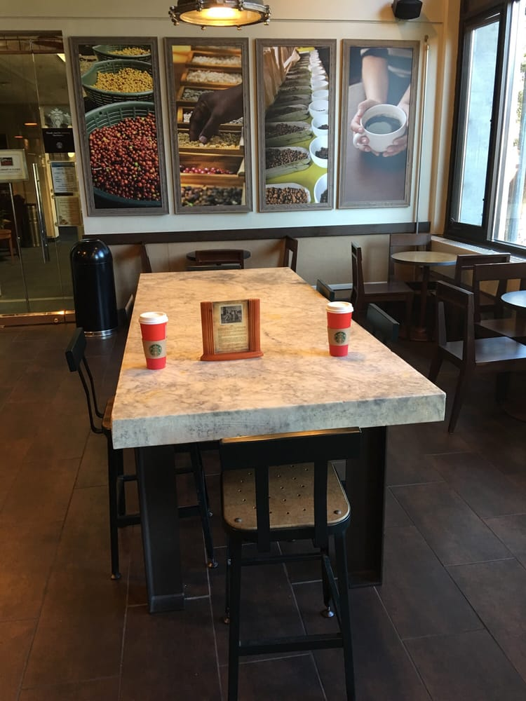 Photo Of Starbucks   Monterey, CA, United States. Marble Table From Hotel  Which