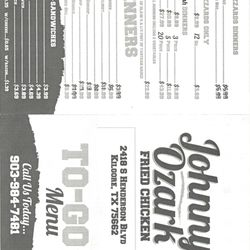 Johnny's Ozark Fried en - Fast Food - 2418 S Henderson Blvd ... on kilgore college map, missouri map of henderson, kilgore city map, current street map of texas henderson, kilgore tx map location,