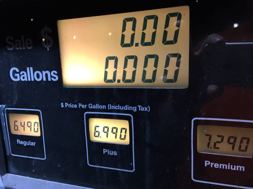 One of the most expensive gas price in California O
