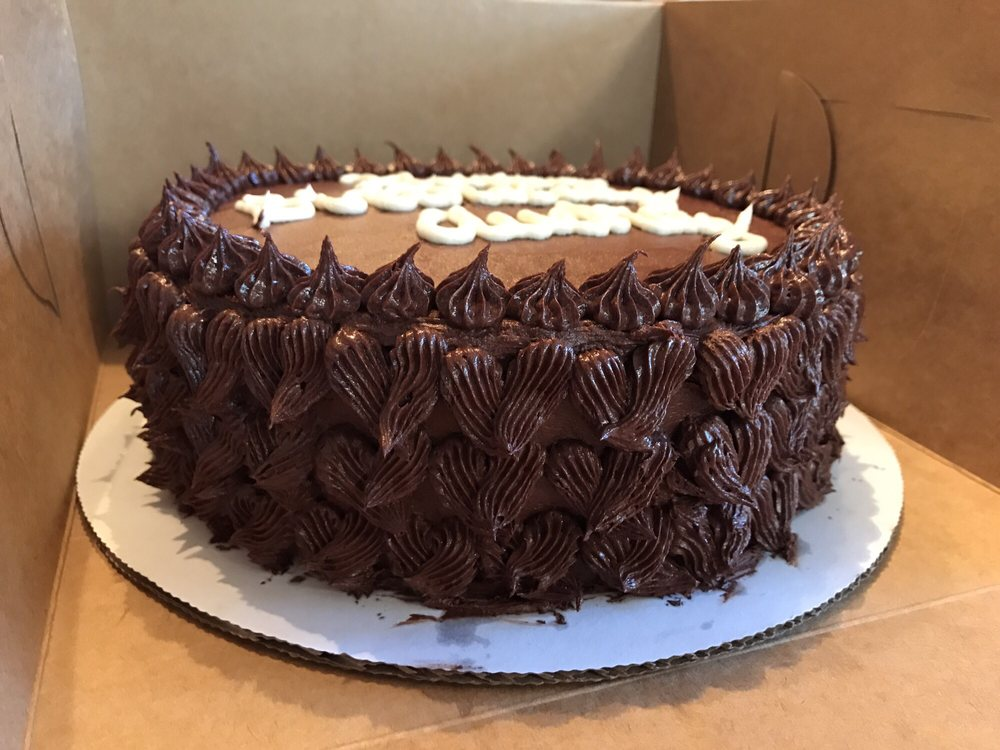 Gluten Free Vanilla Birthday Cake With Chocolate Buttercream Yelp