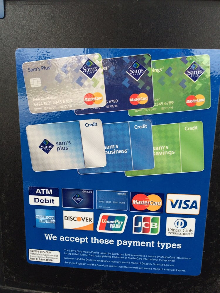 Samsclub Credit Login >> Use Your Sam S Club Card Then If You Wish Use Other Credit