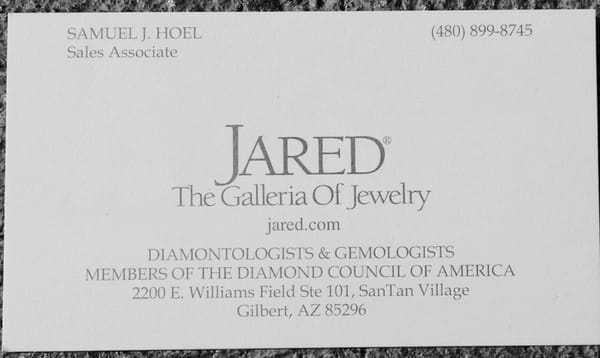 Jared The Galleria Of Jewelry 2200 E Williams Field Road Sainte 101