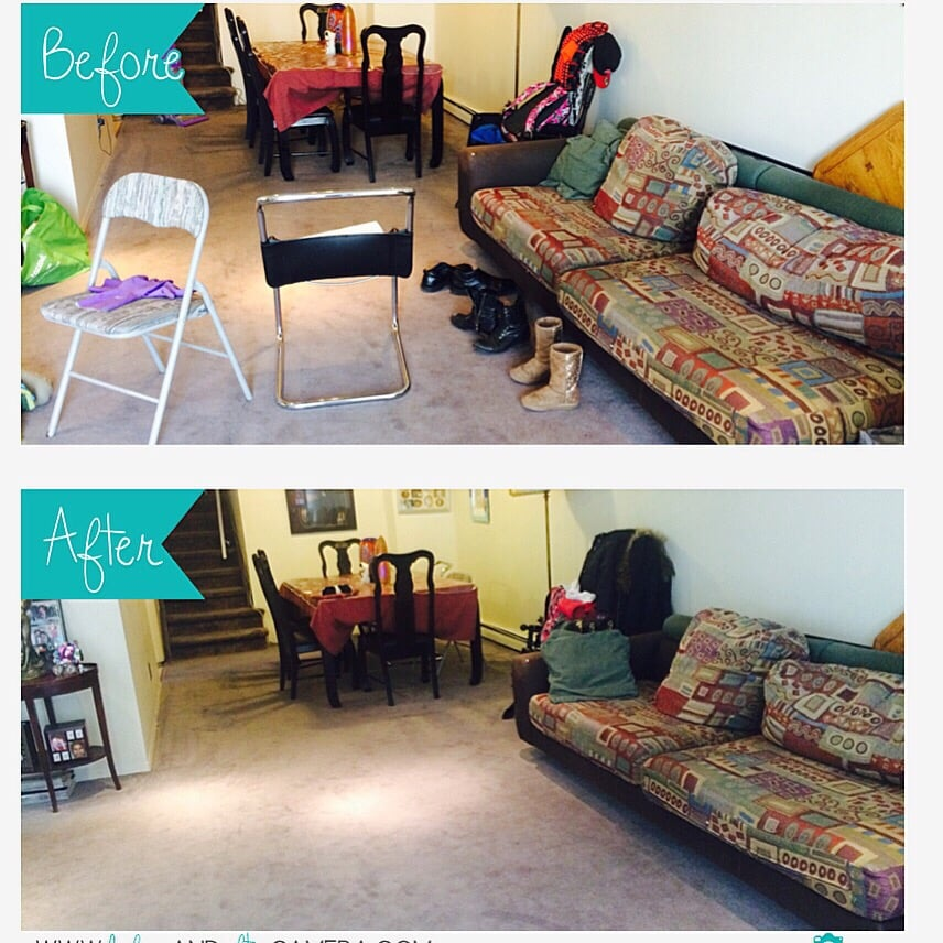 Before and after living room cleaning - Yelp