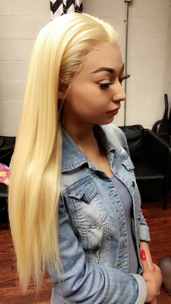 Platinum Blonde Lace Frontal w/ Bundles  NightLyfe has