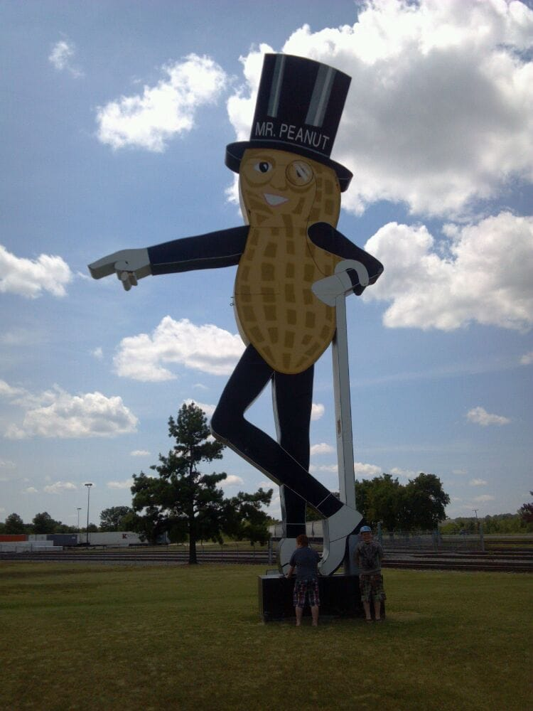 Mr Peanut Sign: 4020 Planters Rd, Fort Smith, AR