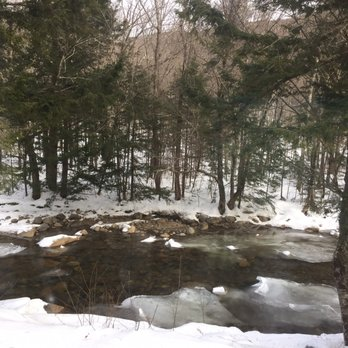 Photo Of Franconia Notch Motel Lincoln Nh United States River Behind The
