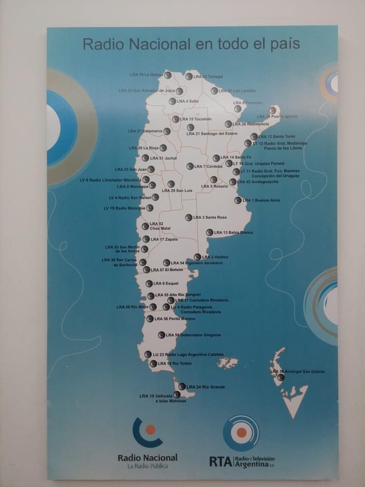 Foto de Radio Nacional - Buenos Aires, Argentina. Mapa Radio Nacional