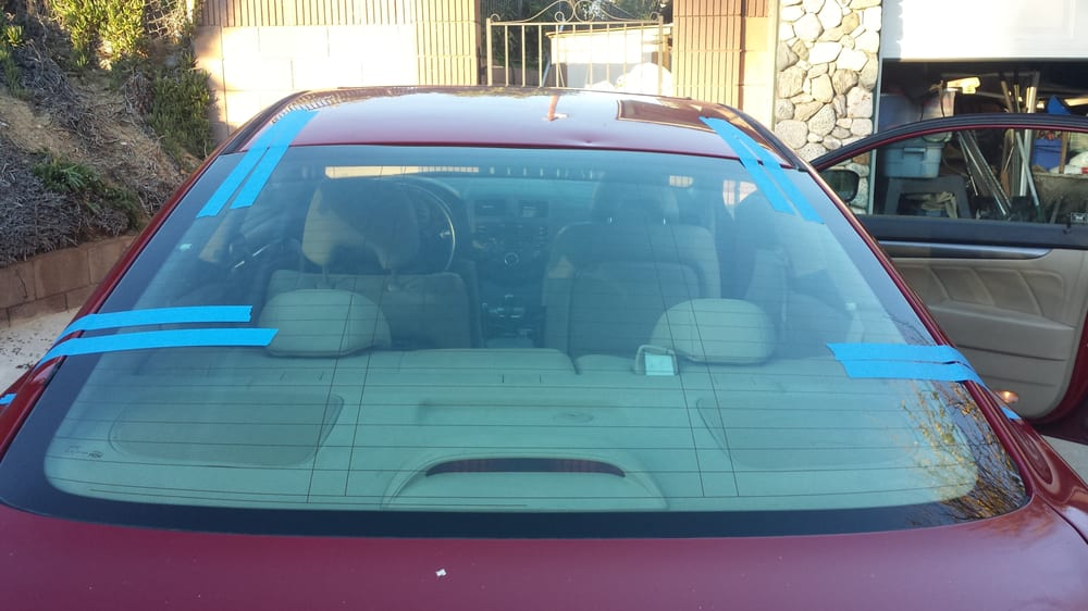 Professional wire cut out tools were used to remove the windshield f ...