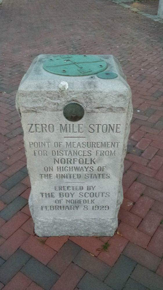 Zero Mile Stone: 198 Bank St, Norfolk, VA