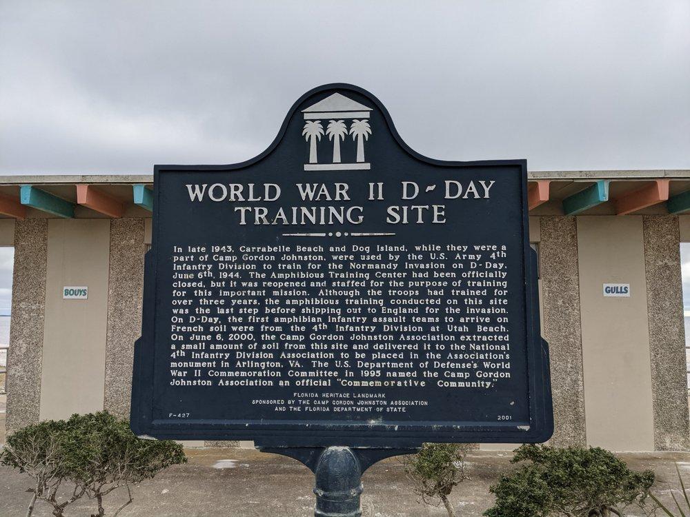World War II D-Day Training Site Marker: 1873 Hwy 98 W, Carrabelle, FL