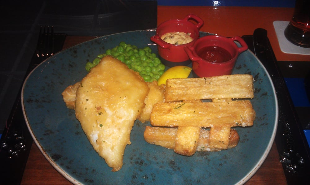 Gordon ramsay 39 s take on fish and chips yelp for Gordon ramsay las vegas fish and chips