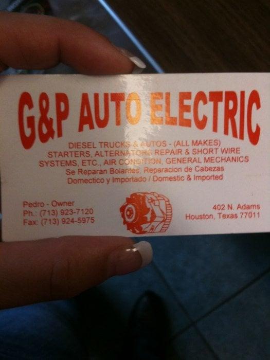 G & P Auto Electric: 5116 Navigation Blvd, Houston, TX
