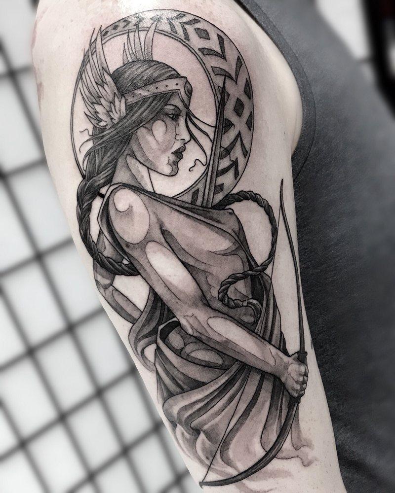 Greek Goddess, Artemis tattoo by Darin! , Yelp