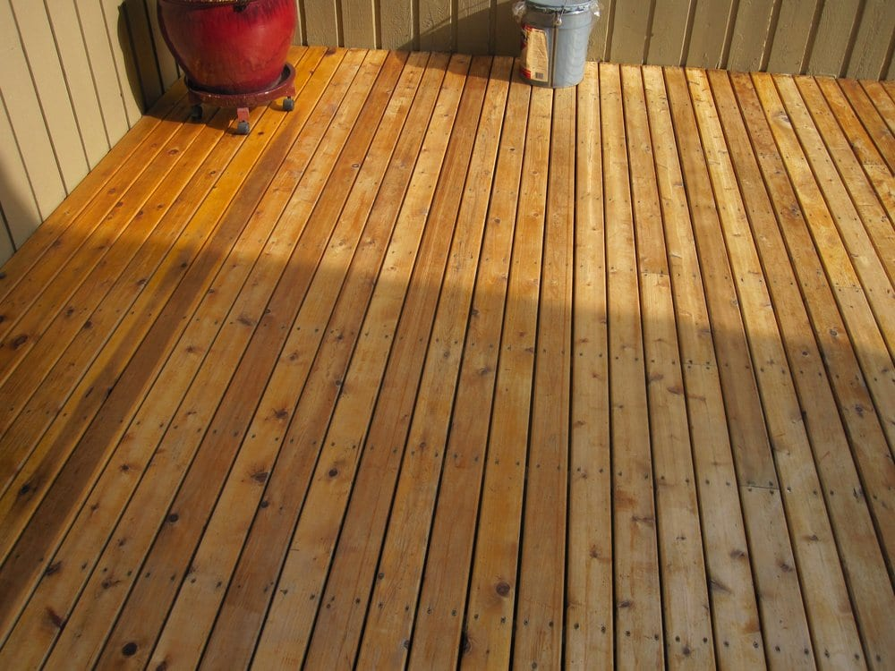 New Deck Clear Cedar With Penofin Stain Yelp