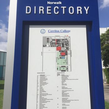 Directory and map of the campus. Cerritos College is on ...
