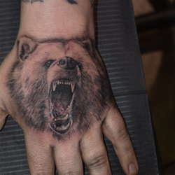 7026c7433 Photo of Black Horse Tattoos - Brooklyn, NY, United States. Grizzly done by