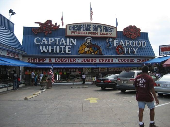Photos for captain white 39 s seafood yelp for Washington dc fish market