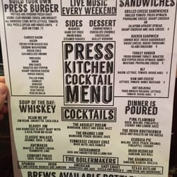 The Press Bar And Kitchen El Paso