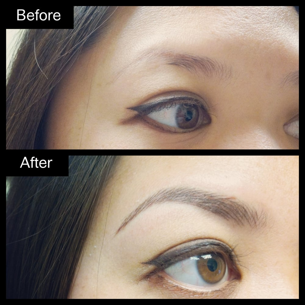 Hair stroke eyebrow embroidery permanent makeup by for 1 salon eyebrow embroidery