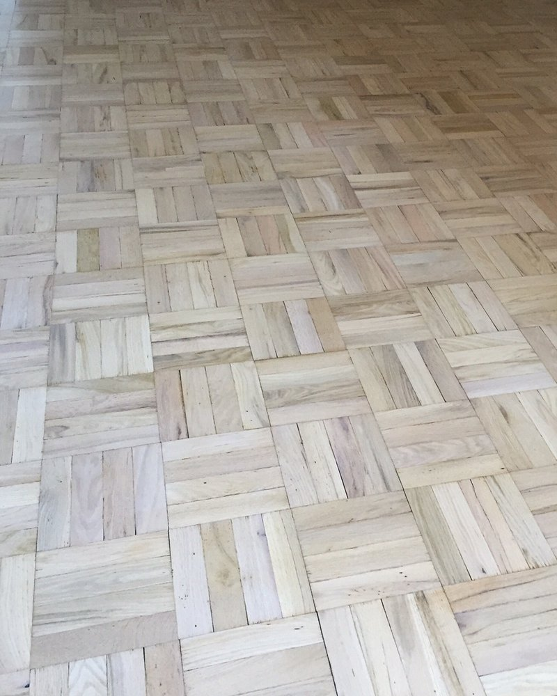Fabulous Whitewash parquet with matte finish. Photo is darker than floors  YZ45