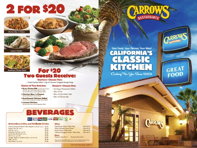 Carrows Restaurants - 425 N Mountain Ave, Upland, CA - 2019