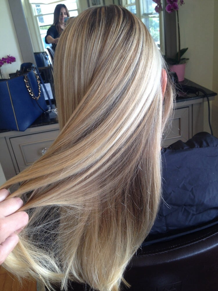 Gorgeous Butter Blonde Highlights And Low Lights By Gina K