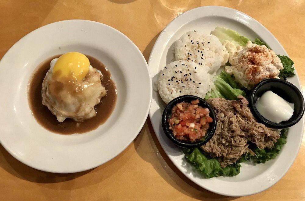 Food from Okole Maluna Hawaiian Grill