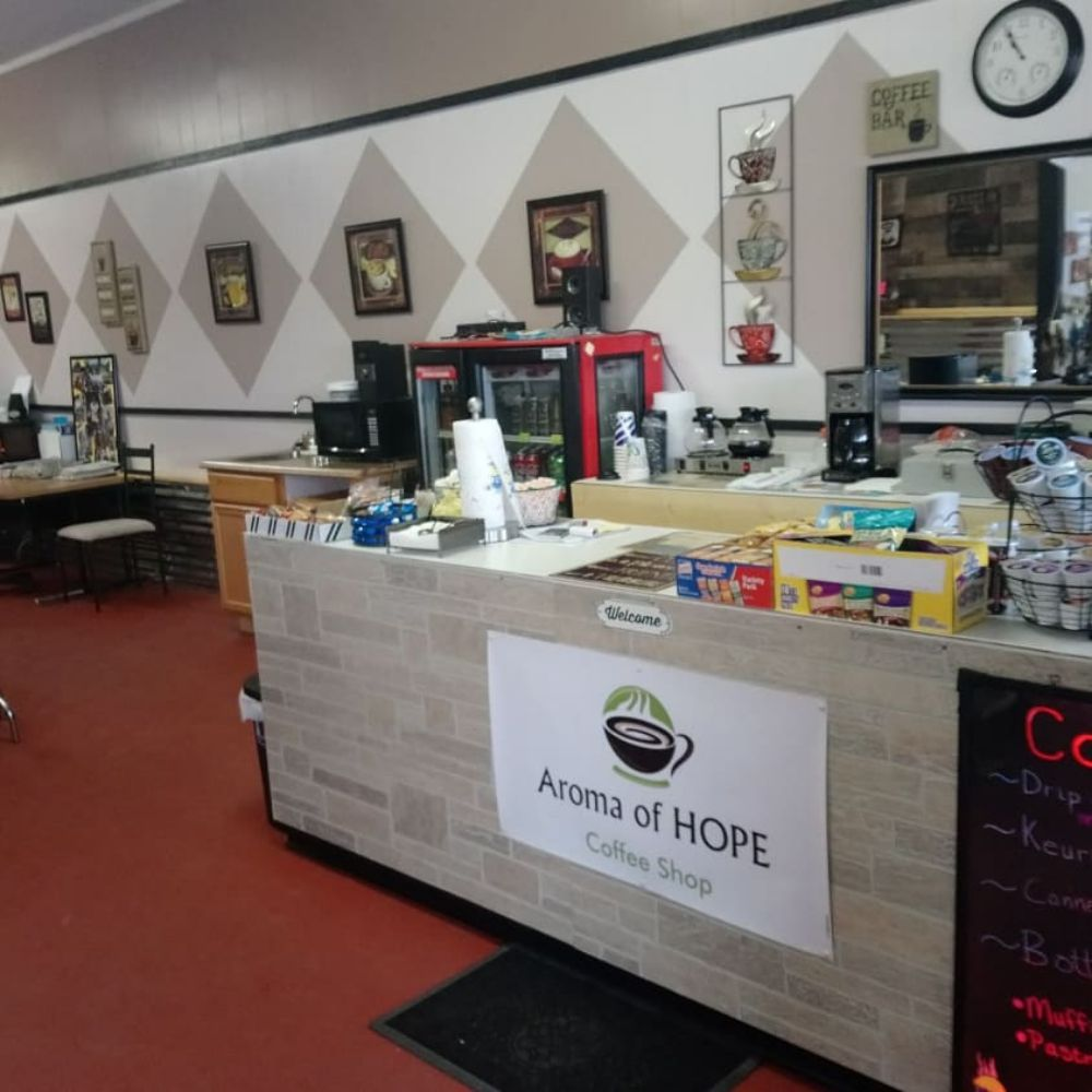 Aroma of HOPE Coffee Shop: 1105 Fisher St, Goldthwaite, TX