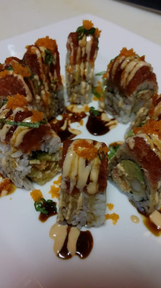 Volcano roll yelp for Asian cuisine fresno