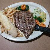 Photo of Lil Sambos Restaurant - Lincoln City, OR, United States. Sambos Ribeyes the chef john